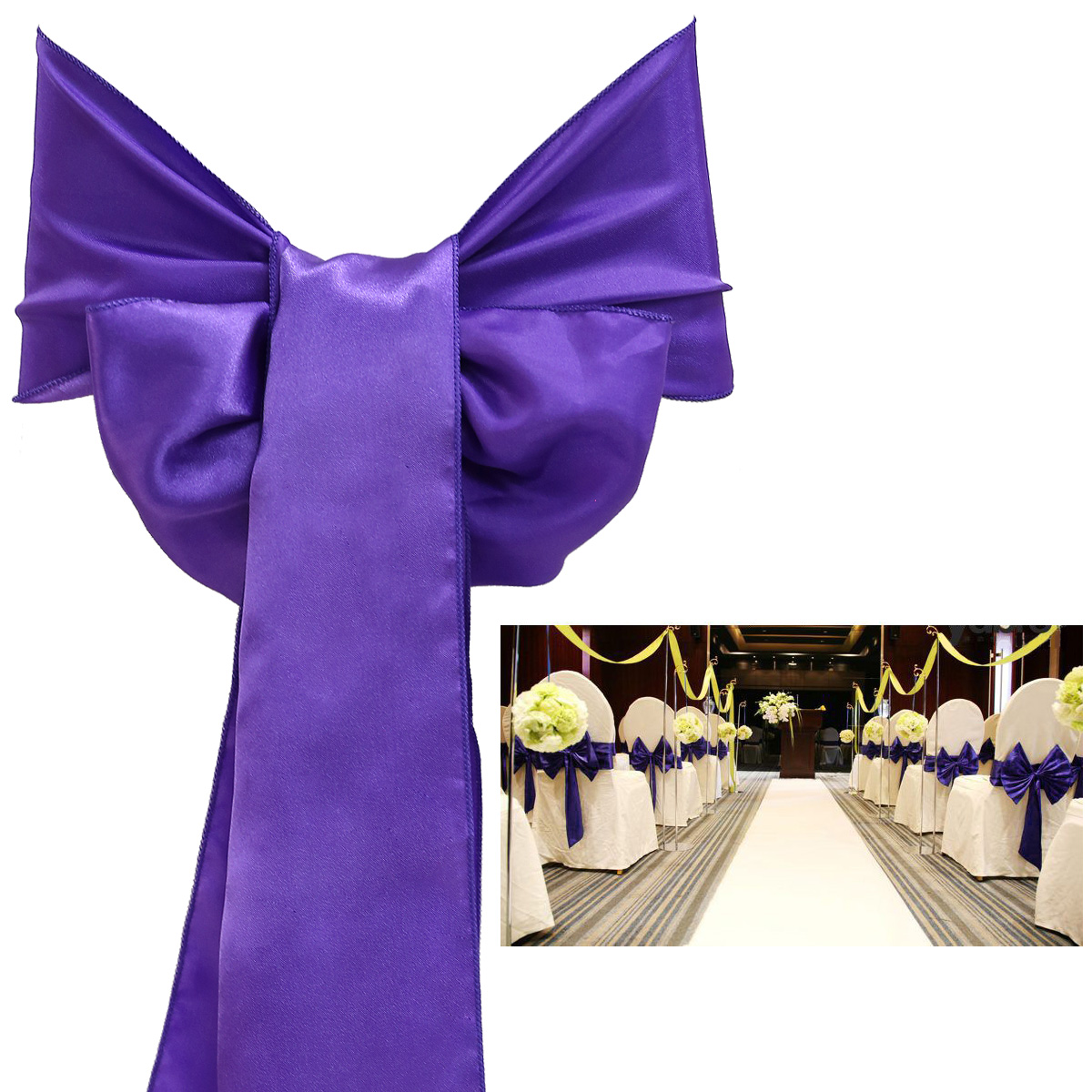 chair cover sash style retro kitchen chairs 25pcs wedding decoration satin bow many