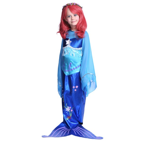 Child Age 3-7 Mermaid Princess Cosplay Sea Outfit Fancy