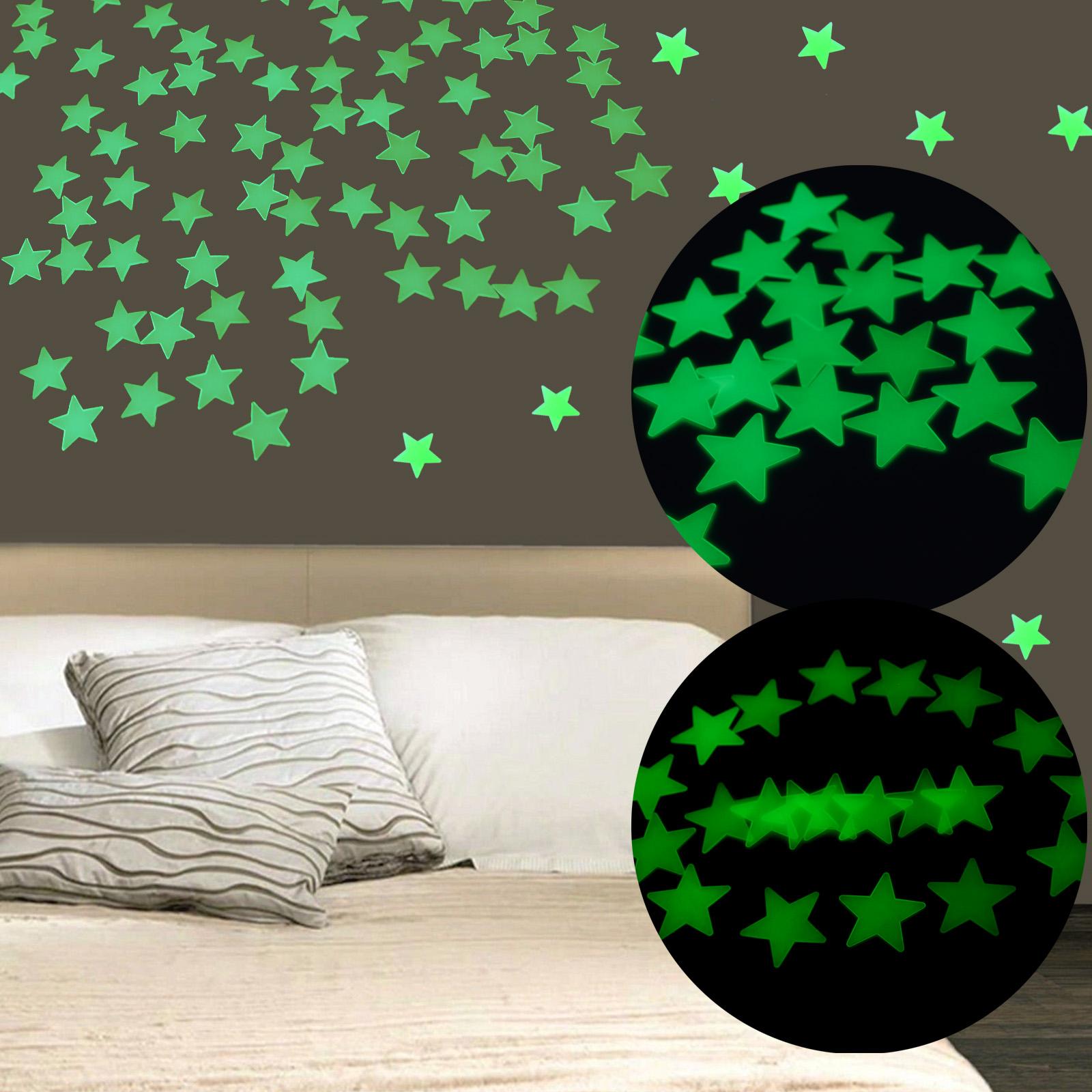 40 80er Wandtattoo Leuchtsterne Leuchtend Sterne 6 2cm