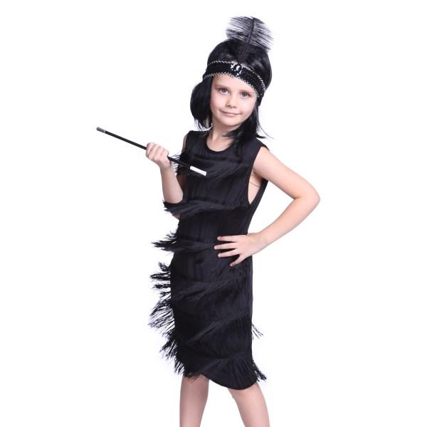 1920s Kids Girls Fringe Flapper Costume Charleston Dance