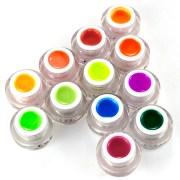 solid colors nail art neon uv