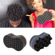 wave barber hair brush sponge tool