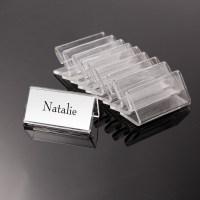 50x MINI 4*2cm Acrylic Sign Display Holder Price Name Card ...