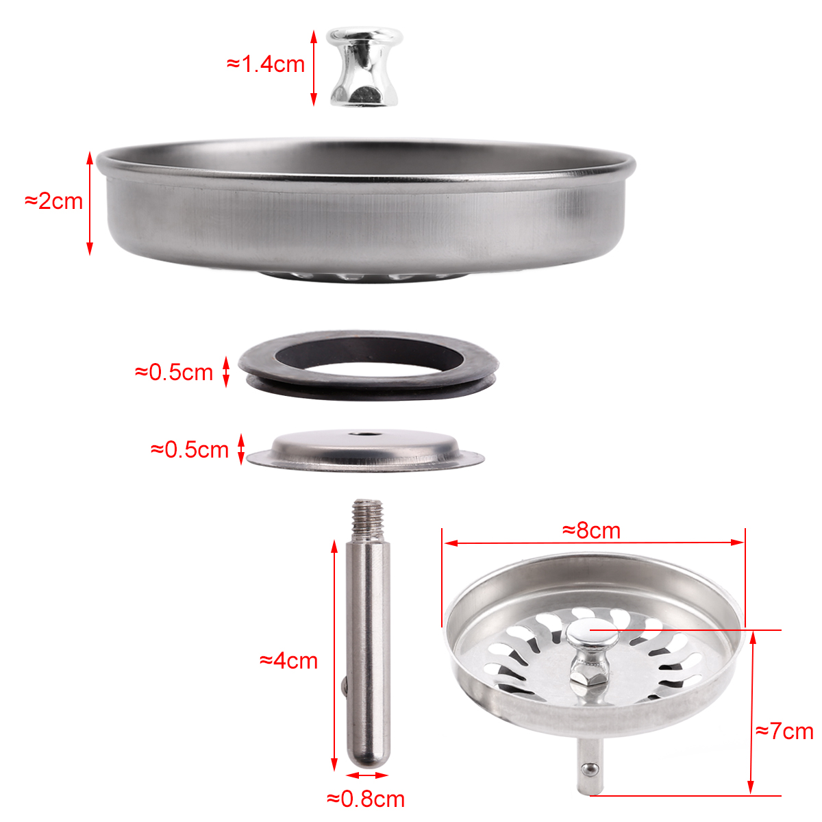 replacing a kitchen sink canisters ceramic 1 4x strainer bathroom basin plug hole filter