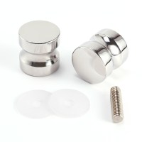 2 x Shower Door Handles/Knobs Chrome Plated Cone Shaped | eBay