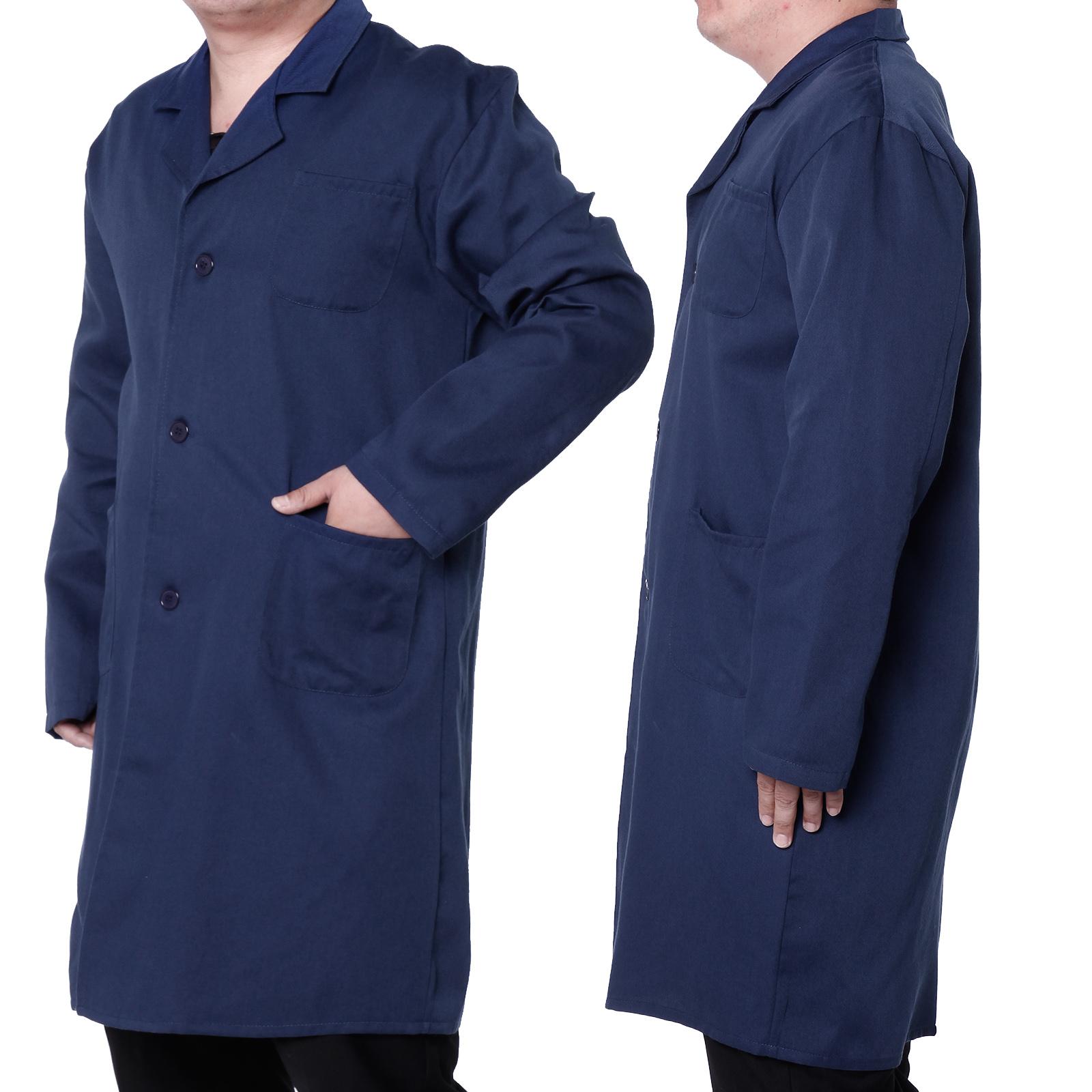 Blue Lab Coat Jacket Doctor Hospital Warehouse Food