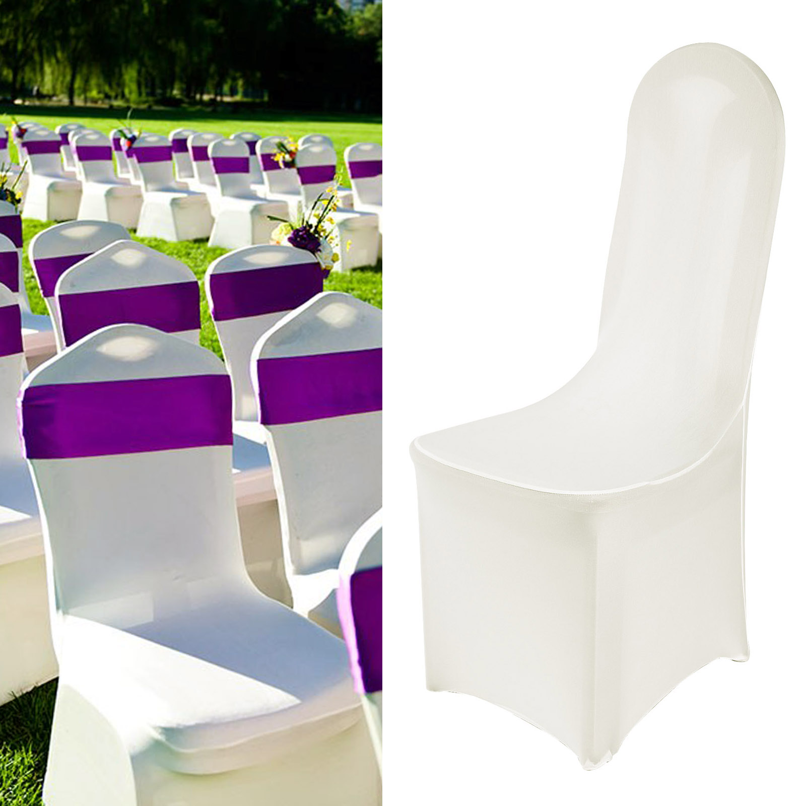 chair covers ebay uk white rocking chairs for sale spandex cover wedding party 50 pcs set