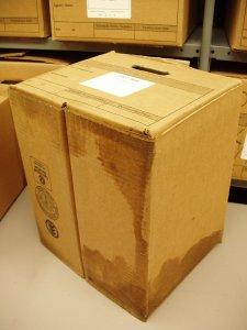 Moisture damage in carton box