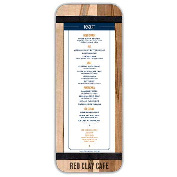 Narrow Banded Menu Board for Cafes, Bars, Restaurants