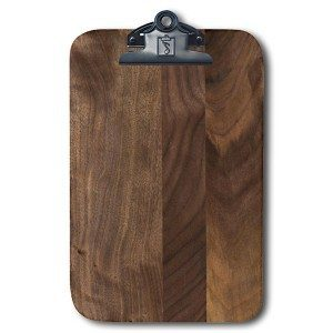 Walnut Engraved Wood Food and Drink Bill Check Presenter