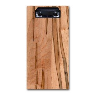Engraved Wood Food and Drink Bill Check Presenter