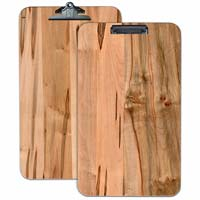 Extra large Ambrosia Maple Wood engraved Menu Clipboard