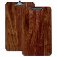 Extra large Walnut Wood engraved Menu Clipboard