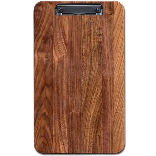 Large Menu Clipboard Black Walnut Hardwood Custom Engraved