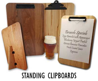 Standing Menu Clipboards for Bars, Restaurants and Cafes