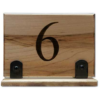 Restaurant Table Tent Numbers