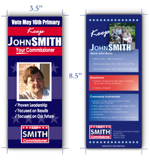 Win Your Campaign With Effective Campaign Palm Cards Brochure And