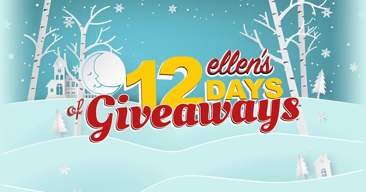 Ellens 12 days of christmas giveaway winners
