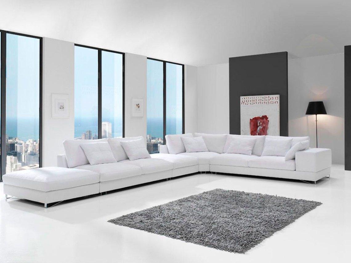 Sofá tapizado Yulian pata alta, 3
