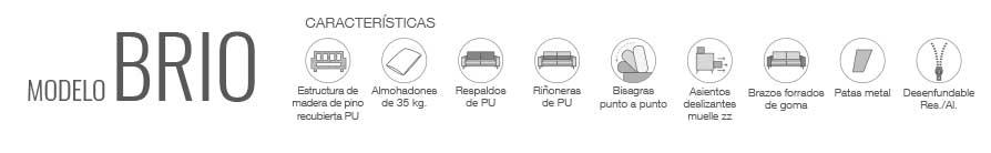 Características sofá Brio, Wiosofas