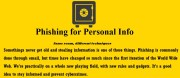 Phishing for Personal Info