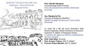 """Il 7 maggio presso Piazza del Mercato a Rosignano Solvay """"Lo sguardo dei ragazzi verso il nuovo Piano Strutturale"""""""