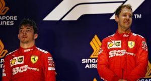 Vettel e Leclerc, doppietta Ferrari a Singapore