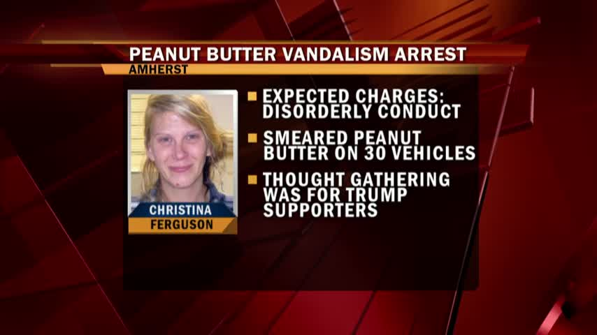 Peanut Butter Vandalism Arrest