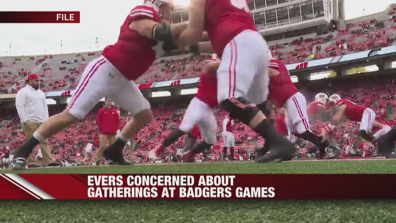 Gov. Evers concerned about gatherings during Badgers games