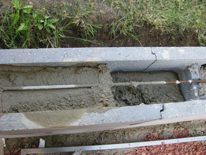 Schalungssteine fr sttzmauer  Mischungsverhltnis zement