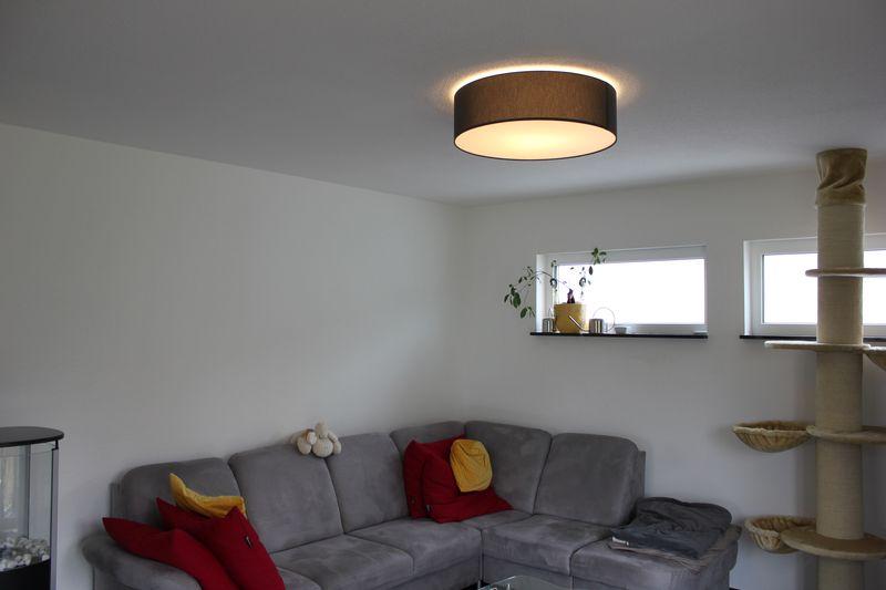 Hufnagel MARA Deckenleuchte als LoungeLampe im Wohnzimmer  Wir bauen dann mal ein Haus