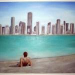 Ein Bild von Hannelore zeigt die Skyline von Doha.