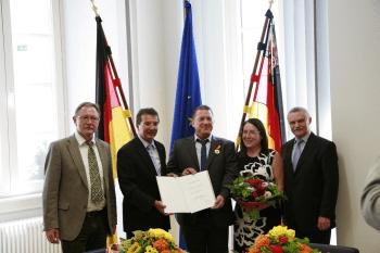 Verleihung Verdienstmedaille des Landes Rheinland-Pfalz an Mainrad Linnebacher