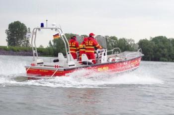 Rettungsboot der DLRG Oppenheim im Einsatz