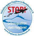 Logo der BI Fluglärm Rheinhessen.