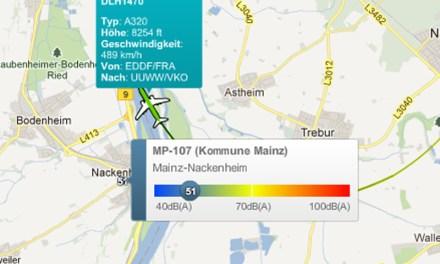 Fluglärm: Belastung durch große Maschinen am Beispiel von Nackenheim