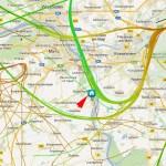 Die Rheinschiene ab Nackenheim nordwärts bekommt es richtig dicke ab.