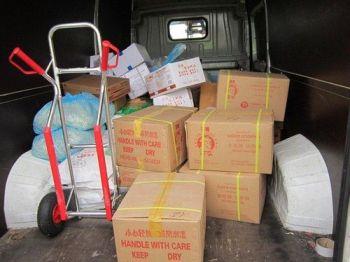 In diesem völlig ungeeigneten Fahrzeug wurden tiefgekühlte Lebensmittel transportiert.