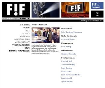 F!F will das Kino retten.