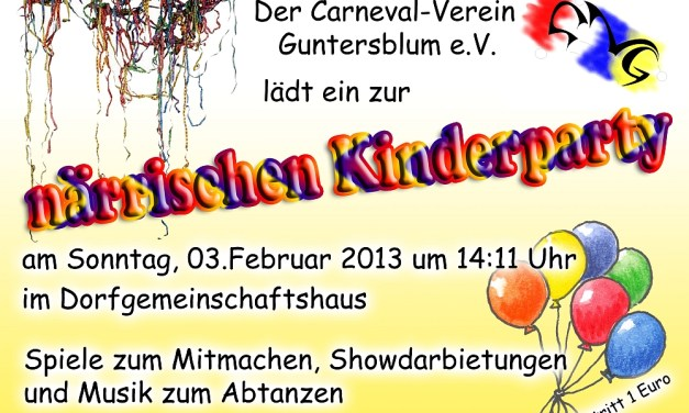 Närrische Kinderparty in Guntersblum
