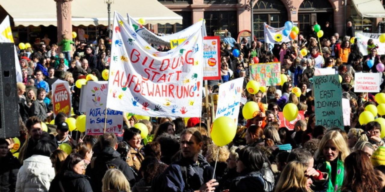 Protest gegen hessisches Kinderförderungsgesetz – die Qualität darf nicht unter die Räder kommen