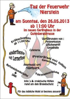 Der Flyer zum Niersteiner Feuerwehrtag
