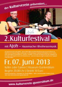 Kulturfestival Gunterblum Plakat