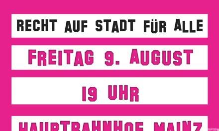 Nachttanzdemonstration in Mainz am 09. August 2013