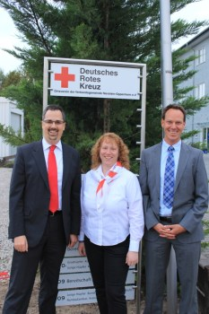 Michael Funck, Bianca Müller und Jörg Steinheimer führen die Geschicke des DRK-Ortsvereins Nierstein-Oppenheim an