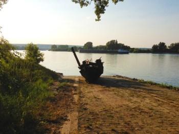 Schiffswrack auf der Natorampe in Oppenheim