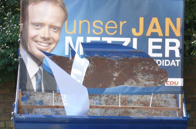 Rechtsradikale attackieren CDU Plakate in Nackenheim