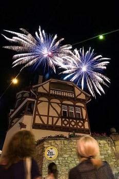 Feuerwerk auf dem Kellerwegfest Guntersblum.