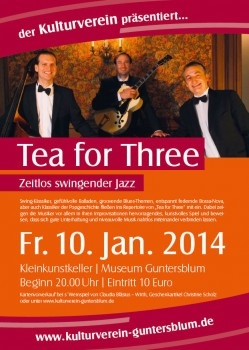 """Tea for Three"" – Zeitlos swingender Jazz mit Andreas Hertel in Guntersblum"