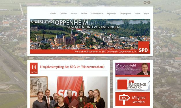 Neue Internetseite der SPD Oppenheim